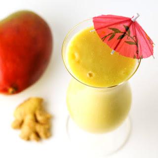 Coconut Mango Ginger Smoothie.