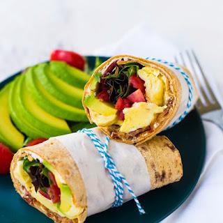 California Breakfast Wrap (Avocado, Egg, Bacon & More!).