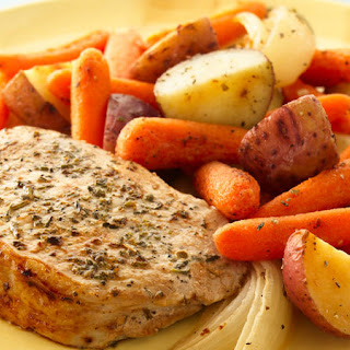 Herb Roasted Pork Chops and Vegetables Recipe