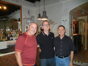 Photo: Frank, Chris, David at Elle Effe Restaurant, Rome. One of our favorite places to eat in Italy!