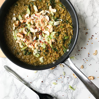 SPINACH, RED LENTIL and COCONUT CURRY (VEGAN) Recipe