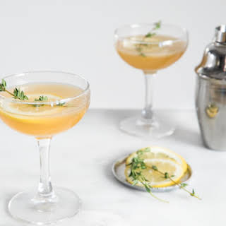 Bourbon and Honey Lemon Fig Cocktail.