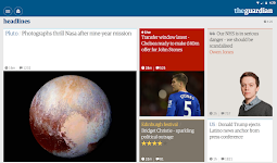 screenshot of The Guardian - Live World News, Sport & Opinion