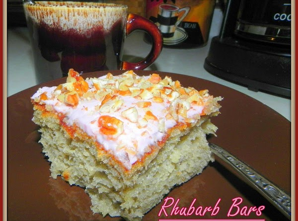 Rhubarb Cake With Pink Pineapple Frosting Recipe