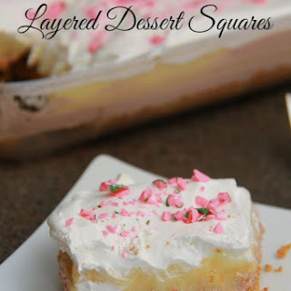 Festive Layered Dessert Squares.