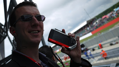 Photo: Dan Bowsher shows off Vodafone's latest