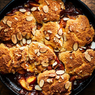 Peach and Bourbon Cobbler with Almond Spoon Cake Recipe