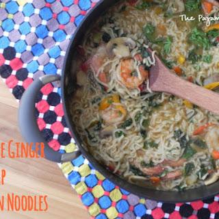Sesame Ginger Shrimp Ramen Noodles.