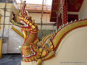 Photo: Detail of balustrade at Wat Phrathat Doi Suthep