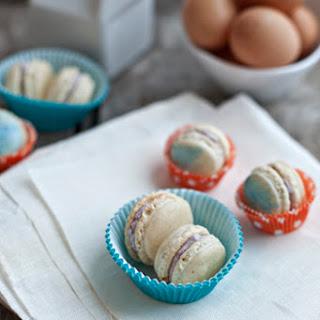 Vanilla Bean and Blueberry Mascarpone Macarons.