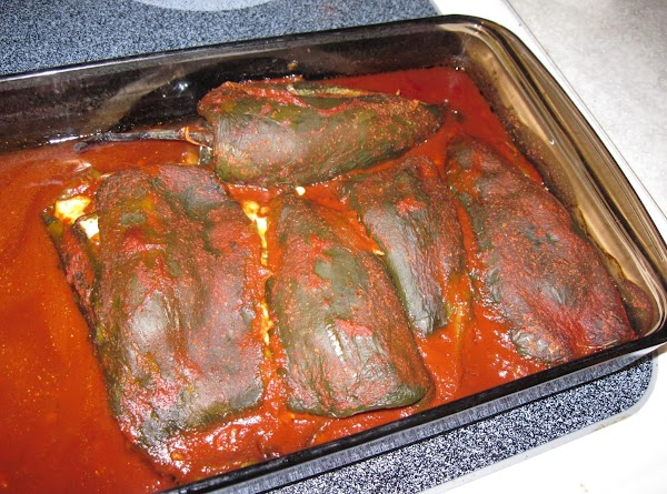 Heat oven to 350. Stuff the peppers with the chicken mixture and top with...