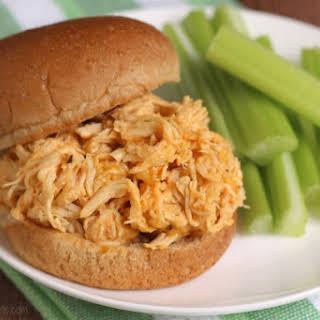Healthy Crock-Pot Buffalo Chicken Sandwiches.