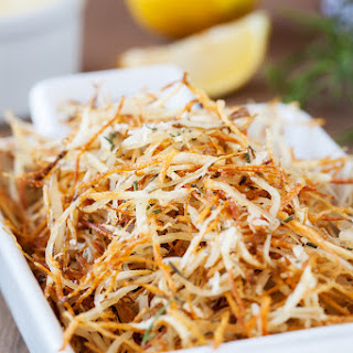 Baked Parmesan Rosemary Shoestring Fries.