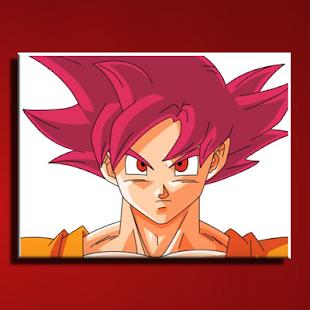 how to draw super saiyan god screenshot thumbnail