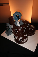 Photo: Our cake, via Choctaw Casino - not thrilled with the piping, we were promised something entirely different...