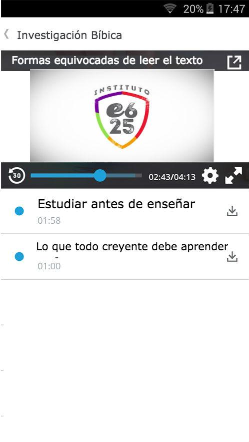 Instituto e625- screenshot