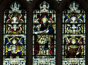 Photo: Detail 7 - Stained glass window West front Hereford Cathedral - 1902
