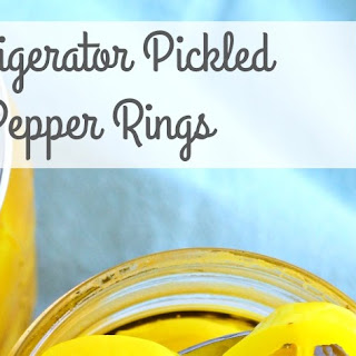 Refrigerator Pickled Pepper Rings.