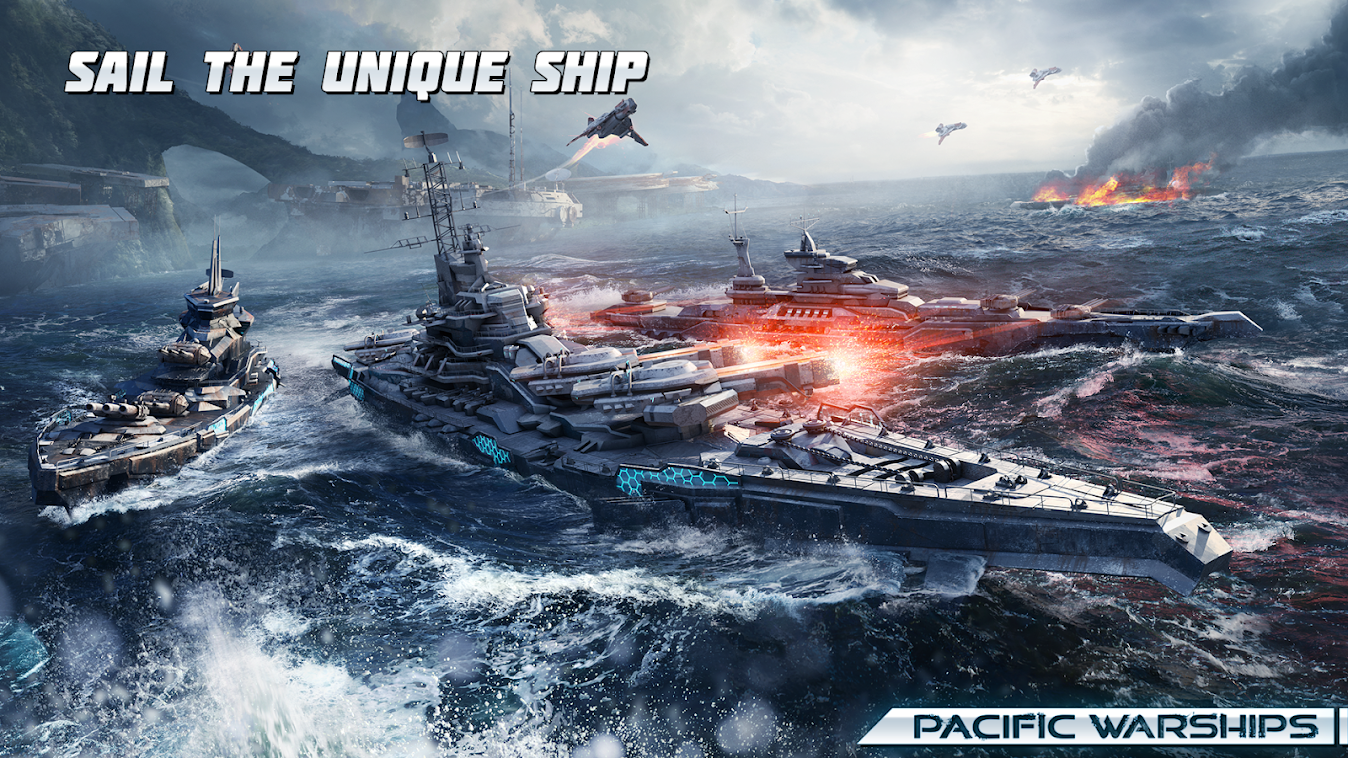 Pacific Warships: Online Wargame PvP Naval Shooter poster
