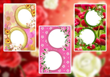 Flower Couple Collage Frames screenshot 1