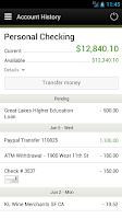 Screenshot of NorthCountry Mobile Banking