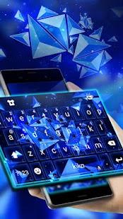 Blue Polygon Keyboard Theme - náhled