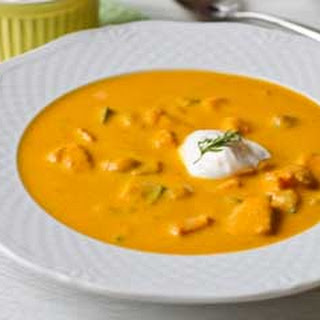 Pureed Carrot Soup with Salmon