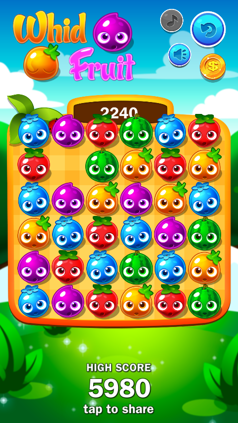 Whid Fruit (Match 3 + 2048)- screenshot