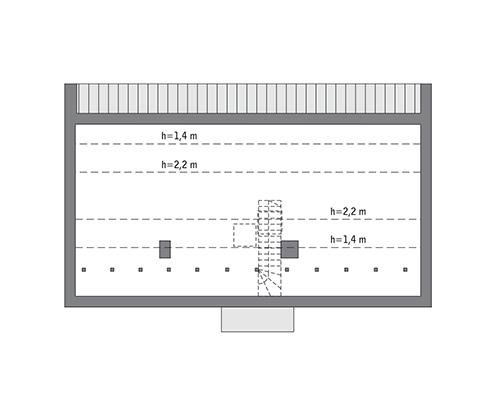Przejrzysty - wariant VII - C365g - Rzut poddasza do indywidualnej adaptacji (41,3 m2 powierzchni użytkowej)