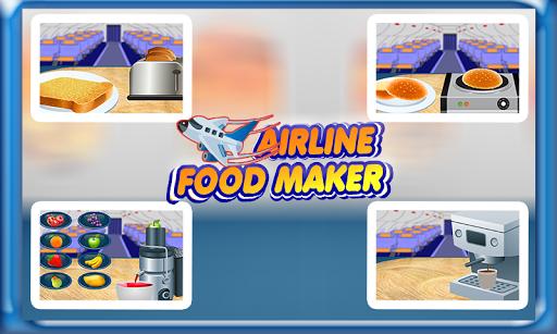 無料休闲Appの飛行機の食品メーカー&クッキング 記事Game