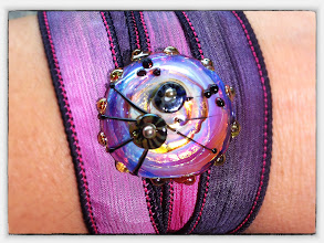 Photo: Handdyed silk ribbon, changeable top