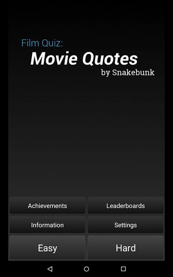 Film Quiz: Movie Quotes- screenshot