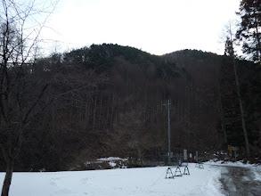 下山予定の斜面を確認