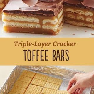 Triple-Layer Cracker Toffee Bars.