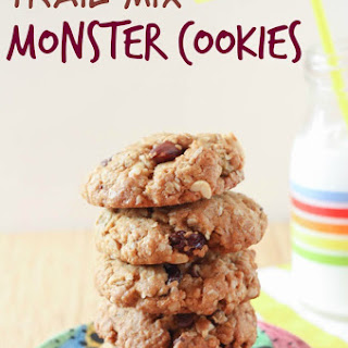 Trail Mix Monster Cookies