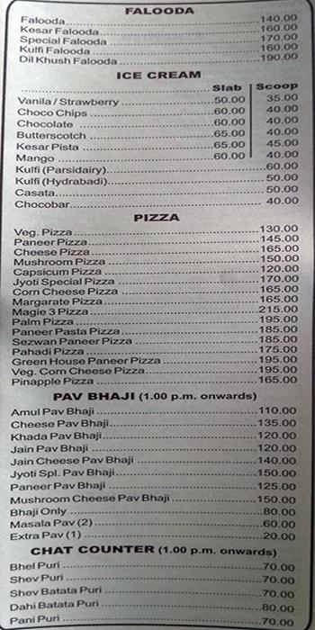 Jyoti Pure Veg menu 7
