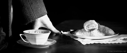 Photo: Tea and Croissant