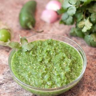 Fresh Green Salsa From Scratch