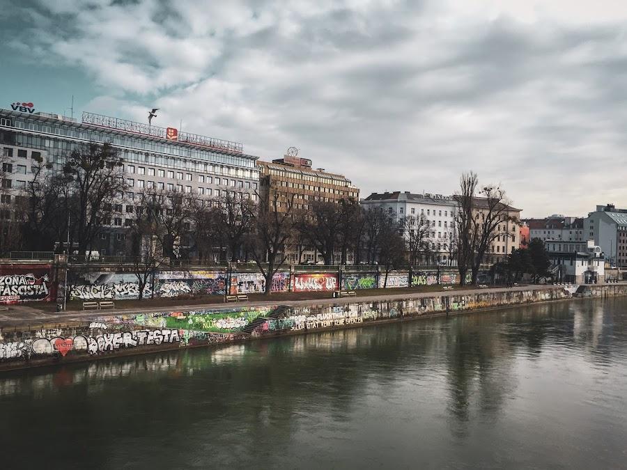 Vienna by Helga Be - City,  Street & Park  Skylines ( donau kanal )