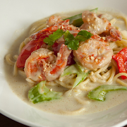 Thai Green Curry Shrimp Spaghetti
