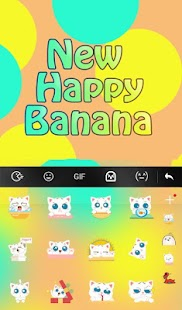 New Happy Banana Keyboard Theme - náhled