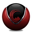 Coastal 2 Black Red -Icon Pack icon