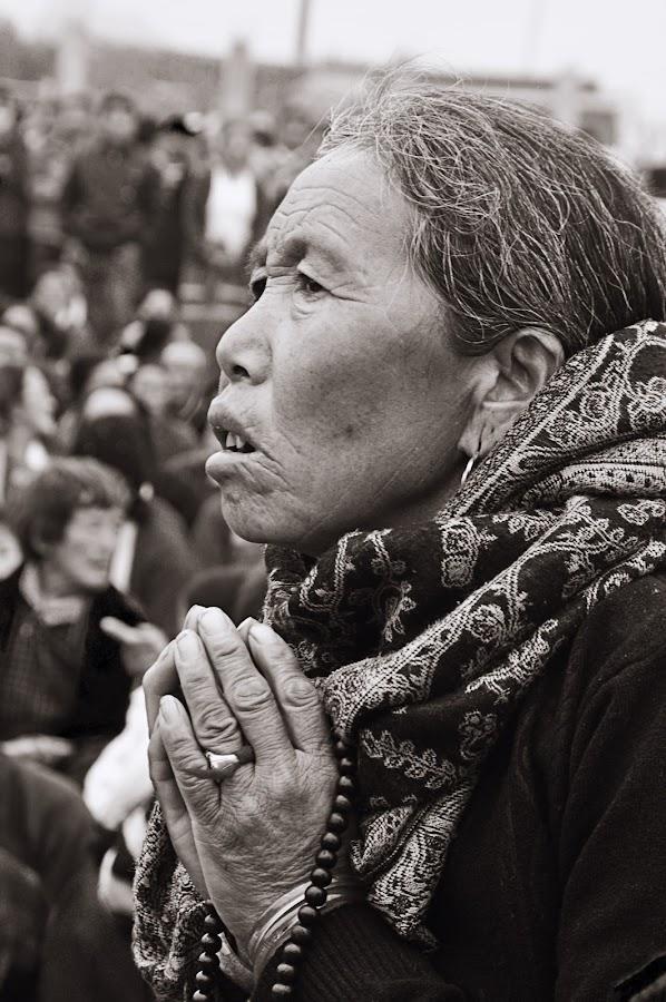 The Tibetan Woman by Tapas Ghosh - People Portraits of Women ( tibetan woman, free tibet )