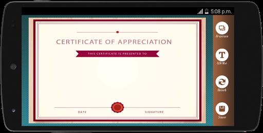 Certificate Maker app pro  screenshots 5