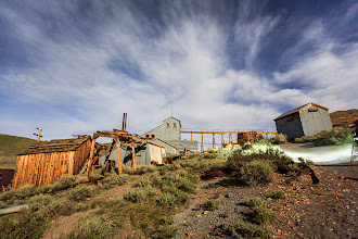 Photo: Light Painting Bodie's Standard Mill