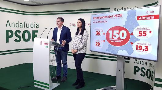 El PSOE pide que se duplique la inversión de la Junta en Almería