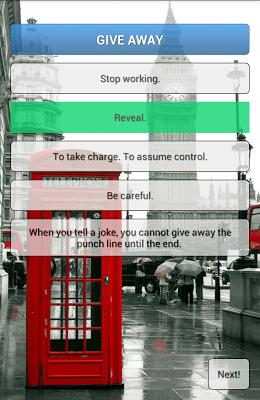 The Phrasal Verbs Game - screenshot