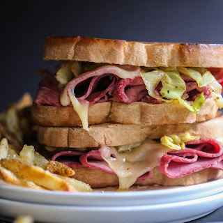 Corned Beef Melt with Caramelized Cabbage