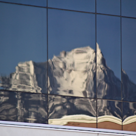 Mountain in a Reflection by Tony Huffaker - Buildings & Architecture Other Exteriors ( utah, mountain, glass, reflection, office, building )