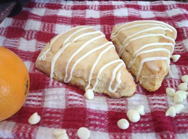 Orange And White Chocolate Scones